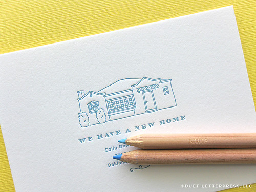 custom house sketch moving announcements // no. 46