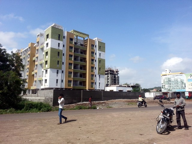 Visit Hill Shire, 1 BHK, 2 BHK & 3 BHK Flats on Kesnand Road, next to Konark Exotica, Wagholi, Pune