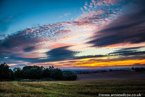 uk sunset england sky sundown fields pattingham southstaffordshire
