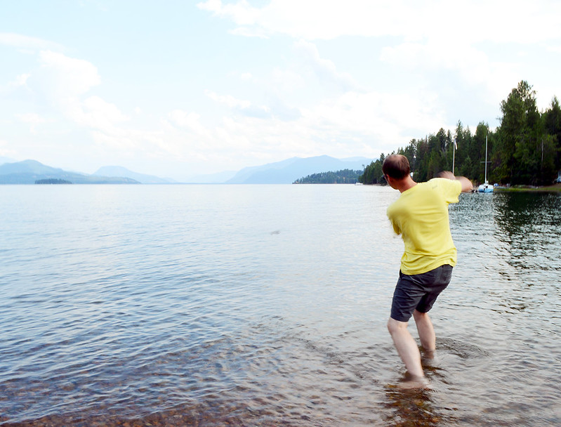 Skipping Rocks in the Lake
