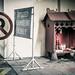 Chinesischer Gebetstempel im Parkhaus des Parkroyal-Hotels in Kuala Lumpur / Malaysia
