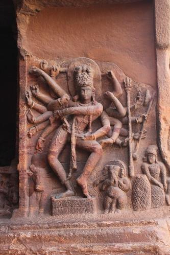 india temple ganesha dance dancer cave nandi shiva karnataka nataraja badami indiandance rockcut traditionaldance agastya 2013 dancingshiva chalukyas cave1 vatapi rockcutarchitecture agastyalake