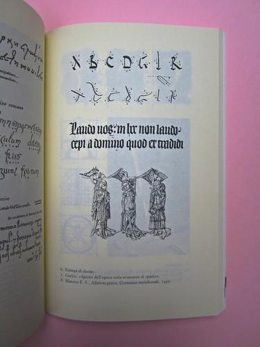 Roland Barthes, Variazioni sulla scrittura. Einaudi 1999. [Responsabilità grafica non indicata]. Tavola numero 6, fuori testo [pag. 9] (part.), 1