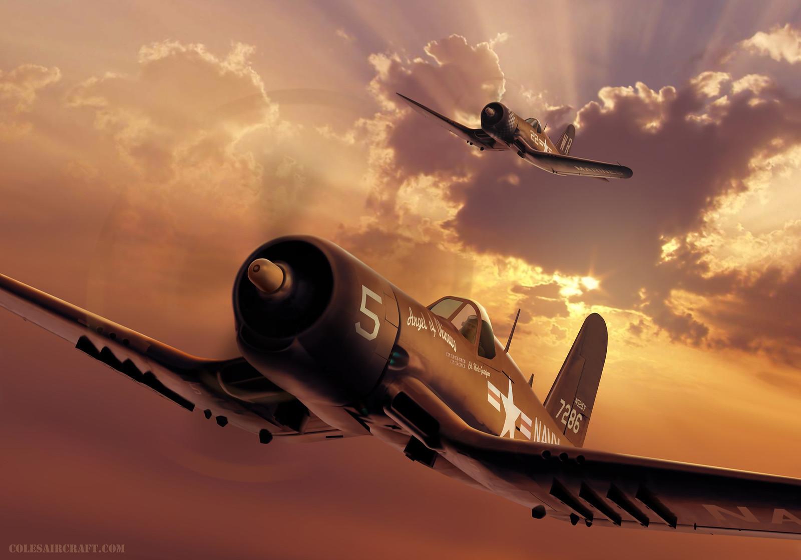 рисунок F4U-4 Corsairs