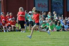 Sports Day 2014 - K literally flying along!