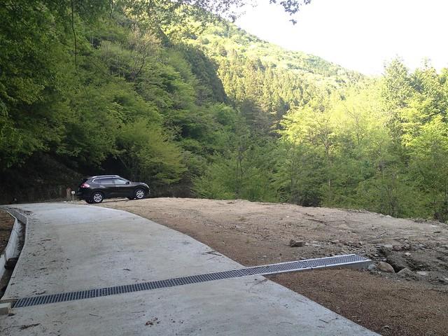 恵那山 前宮登山口 駐車スペース