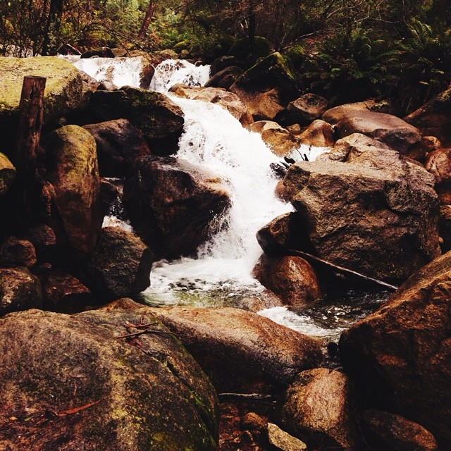 Eurobin Creek rushing down Mt Buffalo #seeaustralia #victoria #vscocam