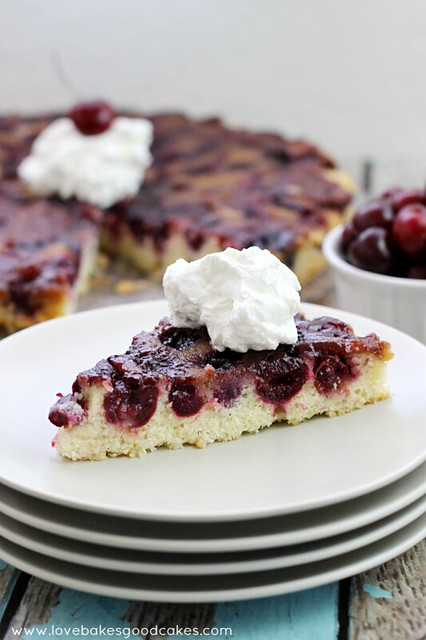 tender crumb butter and sour cream cake, this Cherry Upside Down Cake ...