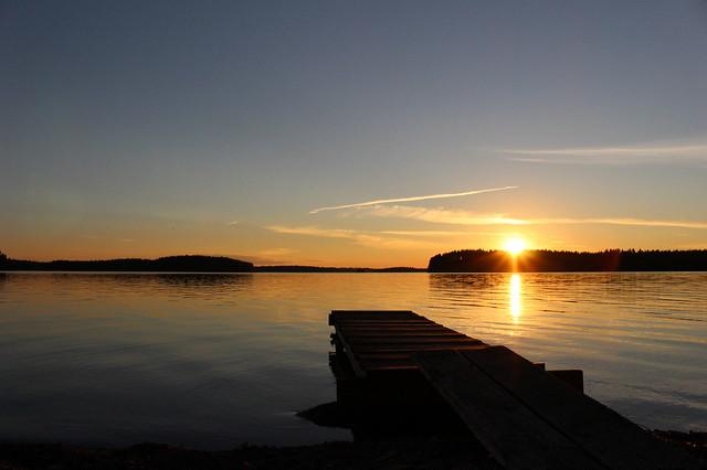 Pier, sunset, Kivijärvi