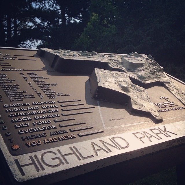 3D map of Highland Park. I love this park so much.