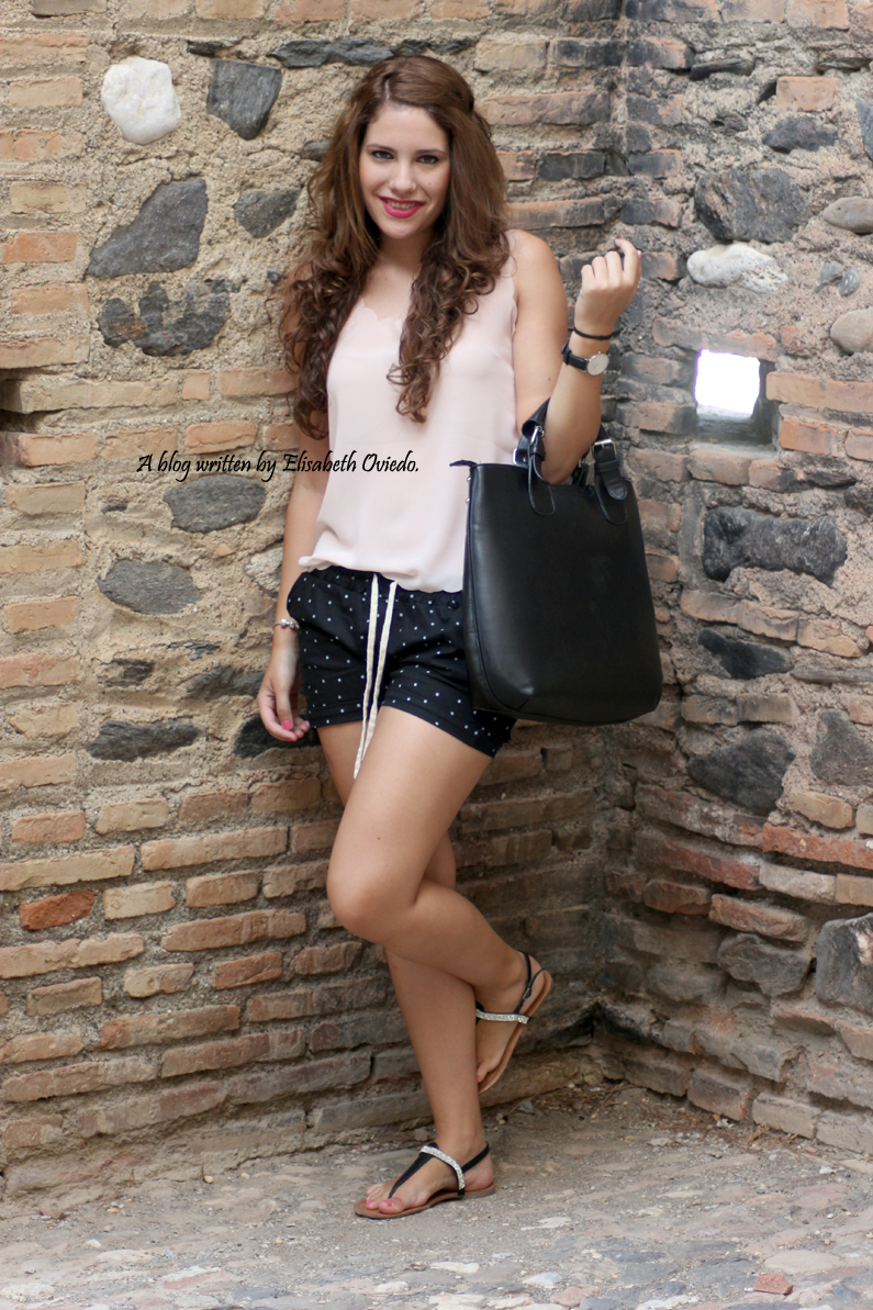 Shorts topos verano Oasap HEELSANDROSES (1)