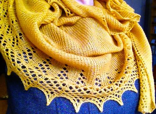 Saffron shawl 4