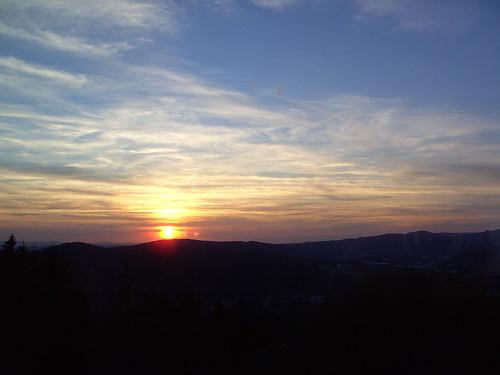 sunset germany deutschland thüringen zonsondergang sonnenuntergang sundown rally august thuringia register annual 20 allemagne 20th duitsland tatra trd 2014 jahrestreffen suhl německo
