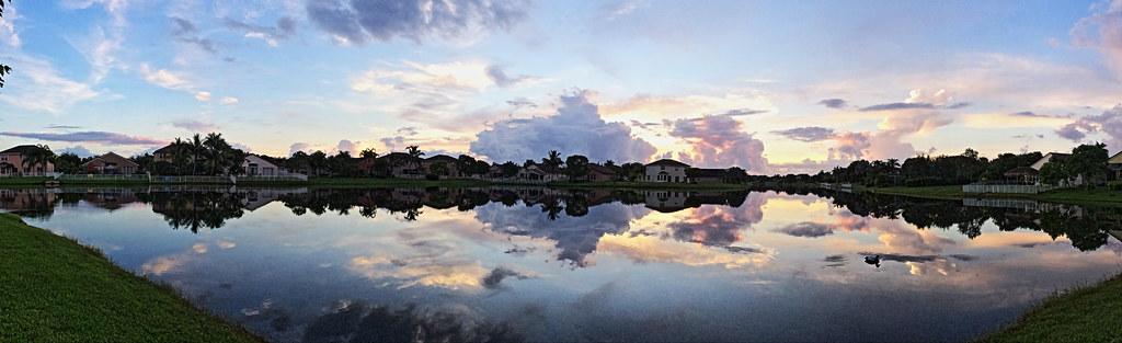 Sunrise panorama 20140722