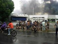 2014年8月2日台商在中國江蘇崑山設立的中榮金屬工廠發生爆炸,造成75死185傷。圖片擷自:Image China