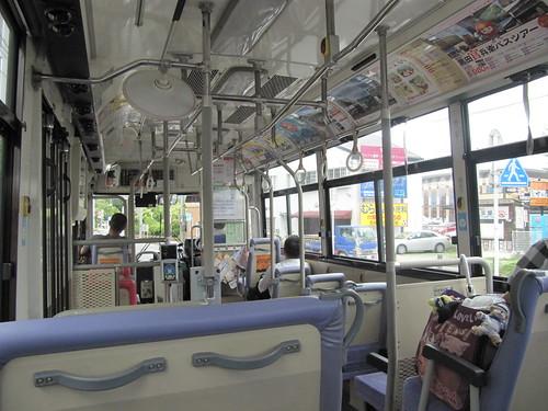 佐賀競馬場に向かう西鉄バス車内