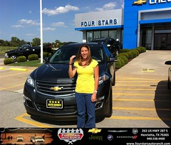 #HappyAnniversary to Ashley Panik on your 2013 #Chevrolet #Traverse from Mark Havens at Four Stars Auto Ranch!