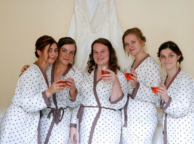 Wedding Getting Ready Strawberry Lambrini Bridesmaids