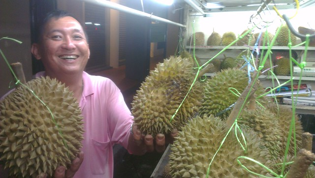 Durian seller, Georgetown, Penang