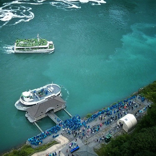 For over 150 years, the Maid of the Mist fleet were the only boats taking visitors to see Niagara falls from the river. All that changed two years ago when the contract was awarded to Hornblower Tours to take over operations beginning 2014. For the first
