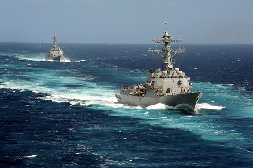 SAN DIEGO - The guided missile destroyers USS Pinckney (DDG 91) and USS Kidd (DDG 100) are scheduled to return to Naval Base San Diego following completion of separate deployments to the Western Pacific and Indian Oceans.