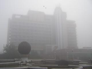 Fregat in Fog
