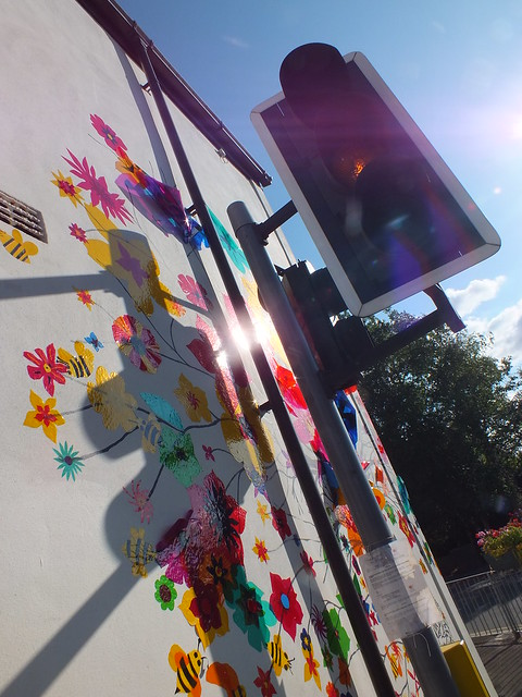 Street art outside Beulah Church, Rhiwbina.