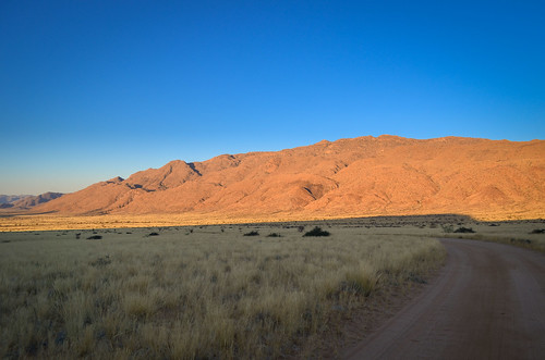 Barchan dune retreat, Namibia