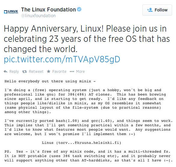 23 éves a Linux