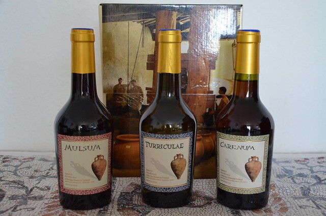 Roman wine produced by Mas des Tourelles, a Gallo-Roman cellar in Beaucaire, France