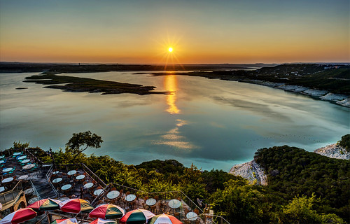 Sunset Over Lake Travis by Geoff Livingston
