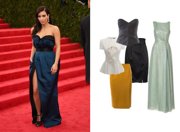 Kim Kardashian style evening