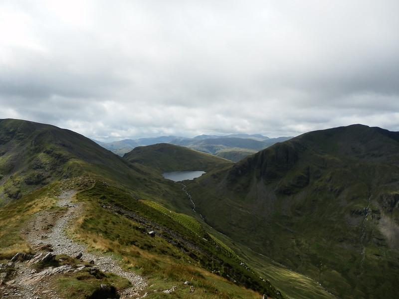 P8134928-From St Sunday Crag with Grisedale Tarn, Seat Sandal and Dollywaggon Pike in view