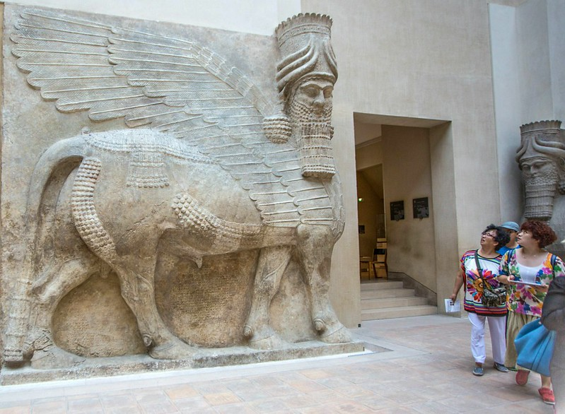 Lamassu, Guardian Deity and Mere Humans