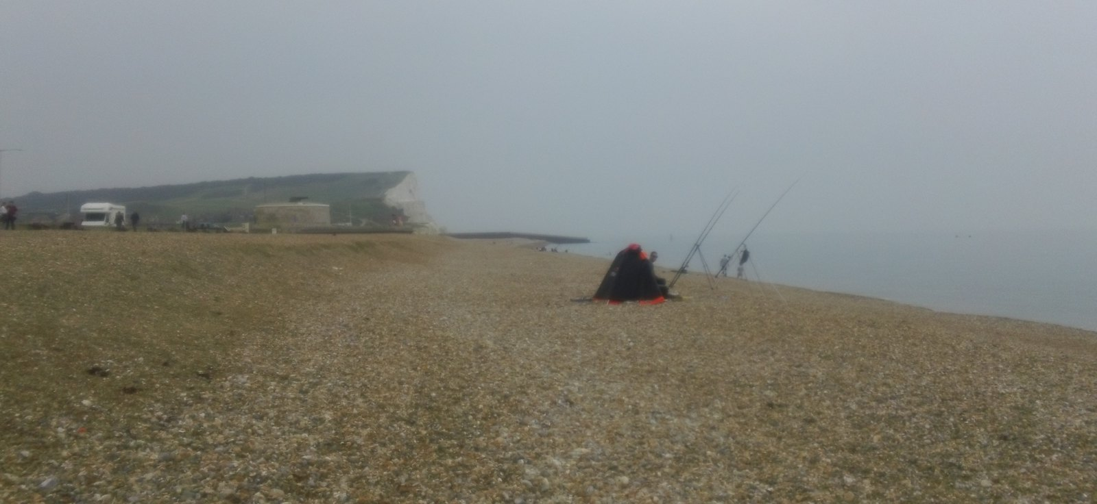 Anglers ... ... on Seaford beach