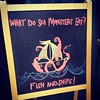 Punny sea monster art spotted on the high seas of San Francisco!