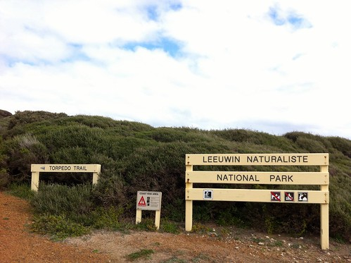 Trail and Park Signs Near Yallingup Beach