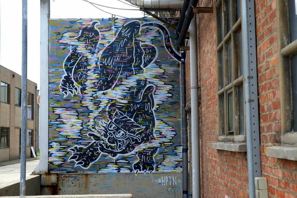 streetart   de kapitein   ghent . belgium