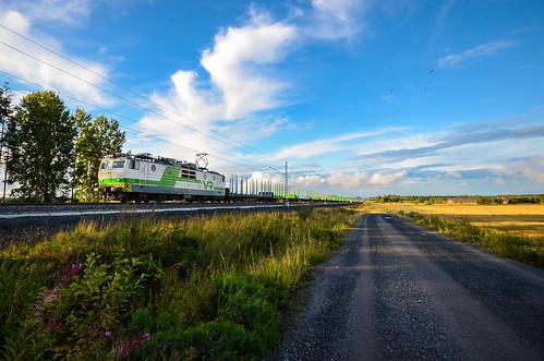 electric train locomotive freight vr sr1 finnishrailways seinäjokikokkola t5086