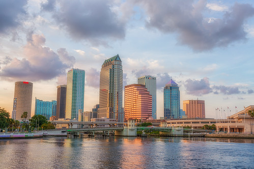 sunset reflection skyline clouds tampa effects other florida beercan processing nik hdr hillsboroughriver photomatix sykesbuilding plattstreetbridge rivergatebuilding