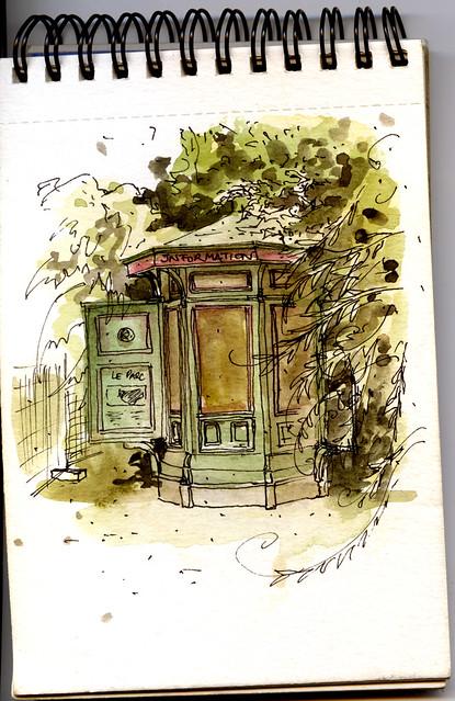 Le kiosque du Parc de la Tête d'or