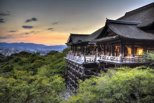 sunset sky orange japan kyoto september 京都 夕陽 日本 太陽 清水寺 kiyomizu kiyomizudera 夕焼け 日の入り 9月 elitegalleryaoi