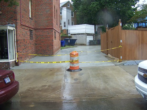 New concrete alley, 6200 block of 3rd St. NW/200 block of Rittenhouse St. NW