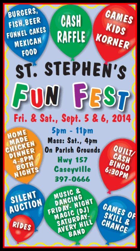 St Stephen's Fun Fest 9-5, 9-6-14