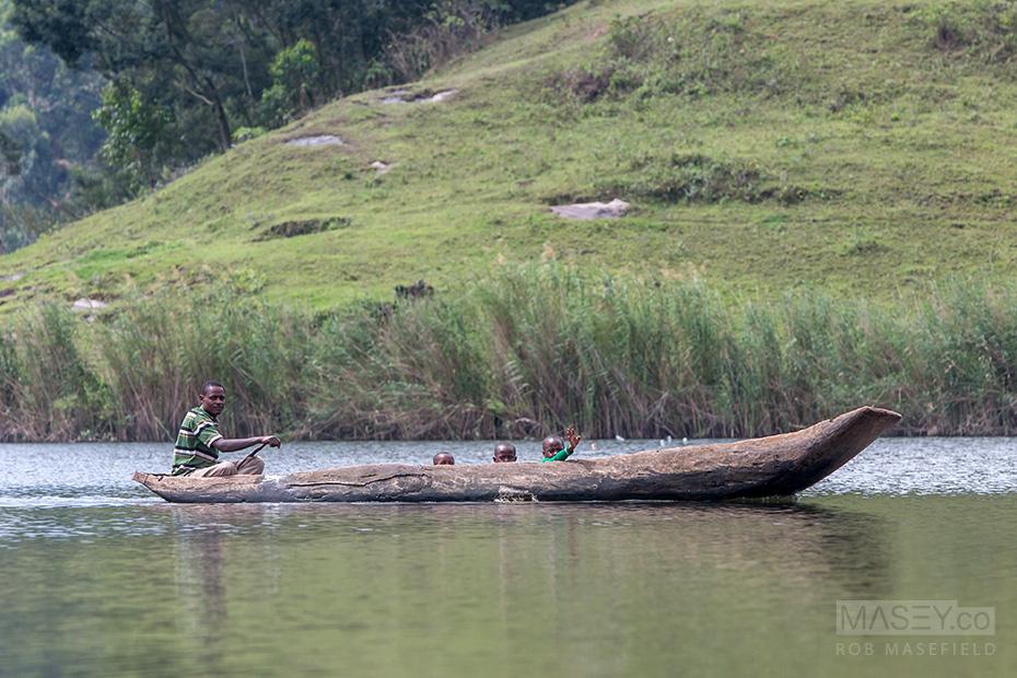 A Sunday family drive - Lake Bunyonyi style.