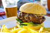 Meatloaf Burger - Meatloaf Patty, Melted Provolone, Spinach, Tomato, and Aioli
