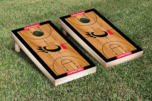 University of Cincinnati Bearcats Cornhole Game Set Basketball Court Version