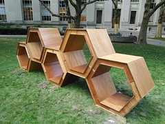 Art installation on the MIT campus, September 2014