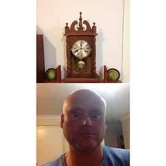 Well past time for sleep. Just got this clock and repaired it. at Tea Gardens #frontback @frontbackapp