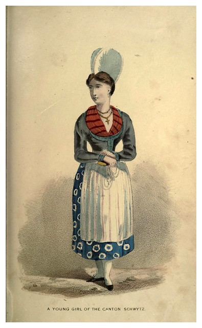 006- Una joven del cantón de Schwyt-Select historical costumes compiled from the most reliable sources -1868